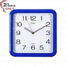 21 Век Часы настенные 7667 синие