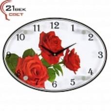 21 Век Часы настенные 2434-1039 (24*34) овальные