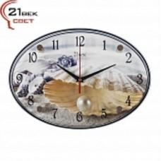 21 Век Часы настенные 2434-123 (24*34) овальные