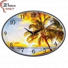 21 Век Часы настенные 2434-740 (24*34) овальные