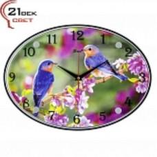 21 Век Часы настенные 2434-1254 (24*34) овальные