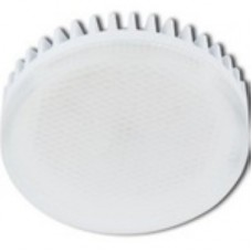 Ecola GX53   LED 10,0W Tablet 220V 2800K матовое стекло (ребристый алюм. рад) 27x75 T5MW10ELC
