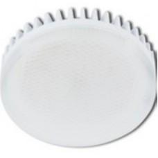Ecola GX53   LED 10,0W Tablet 220V 4200K матовое стекло (ребристый алюм. рад) 27x75 T5MV10ELC