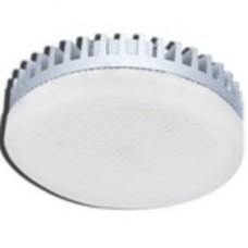 Ecola GX53   LED  6,0W Tablet 220V 2800K матовое стекло (ребристый алюм. радиатор) 27x75 T5LW60ELC