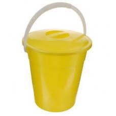 Ведро 6л евро пищевое с крышкой (желтый цвет)
