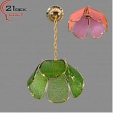 Люстра 1087/1A зеленый,розовый (6)