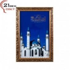 Картина 420SВ-М03 в багете с подсв.Мечеть Кул-Шариф и молитва (5) 28*42см